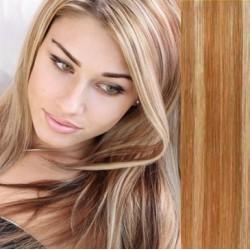 Clip in vlasy 53cm 100% lidské – REMY 100g – SVĚTLÝ MELÍR