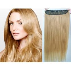 Clip in pás z pravých vlasů 43cm rovný – přírodní blond