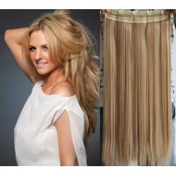 Clip in pás z pravých vlasů 43cm rovný – přírodní / světlejší blond