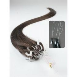 Vlasy pro metodu Micro Ring / Easy Loop / Easy Ring / Micro Loop 40cm – tmavě hnědé