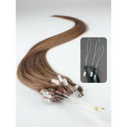 Vlasy pro metodu Micro Ring / Easy Loop / Easy Ring / Micro Loop 50cm – světlejší hnědá