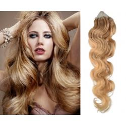 Vlnité vlasy Micro Ring / Easy Loop / Easy Ring / Micro Loop 60cm – přírodní blond