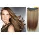 Clip in pás z pravých vlasů 43cm rovný – světle hnědá