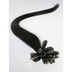 "U-tip / Nail tip human hair REMY 16"" (40cm) – black"