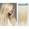 Clip in pás z pravých vlasů 63cm rovný – platina