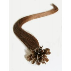 "U-tip / Nail tip human hair REMY 16"" (40cm) – medium light brown"