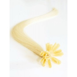 "U-tip / Nail tip human hair REMY 16"" (40cm) – the lightest blonde"