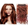Clip in pás z pravých vlasů 43cm vlnitý – měděná