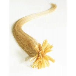 "U-tip / Nail tip human hair REMY 20"" (50cm) – natural blonde"