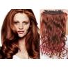 Clip in pás z pravých vlasů 53cm vlnitý – měděná