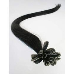 "U-tip / Nail tip human hair REMY 24"" (60cm) – black"