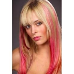 "Clip in 100% human hair streak 20"" (53cm) – pink"