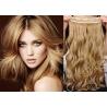 Clip in pás z pravých vlasů 63cm vlnitý – přírodní / světlejší blond