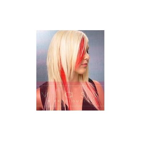 "Clip in 100% human hair streak 20"" (53cm) – red"