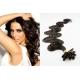 Vlnité vlasy evropského typu k prodlužování keratinem 50cm - přírodní černé