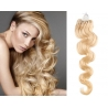 Vlnité vlasy Micro Ring / Easy Loop / Easy Ring / Micro Loop 50cm – nejsvětlejší blond