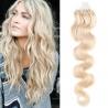 Vlnité vlasy Micro Ring / Easy Loop / Easy Ring / Micro Loop 50cm – platina