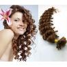 Kudrnaté vlasy evropského typu k prodlužování keratinem 50cm - světlejší hnědé