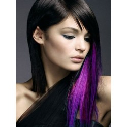 "Clip in 100% human hair streak 20"" (53cm) – purple"