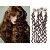 Kudrnaté vlasy Micro Ring / Easy Loop / Easy Ring / Micro Loop 50cm – světlejší hnědé