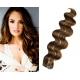 Vlnité vlasy pro metodu Pu Extension / Tape Hair / Tape IN 60cm - tmavý melír