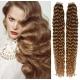 Kudrnaté vlasy pro metodu Pu Extension / Tape Hair / Tape IN 60cm - světle hnědé