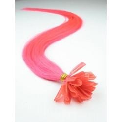 "U-tip / Nail tip human hair REMY 24"" (60cm) – pink"