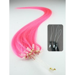 "Micro ring / easy ring human hair REMY 24"" (60cm) – pink"