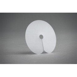 White protective scalp shields - 5 pcs