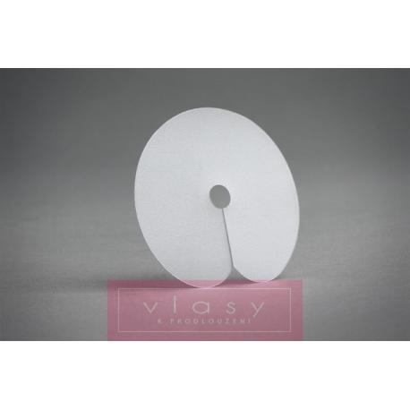 White protective scalp shields - 5 pcs
