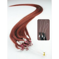 "Micro ring / easy ring human hair REMY 20"" (50cm) – copper red"