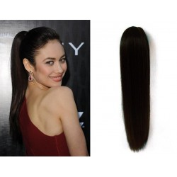 Clip in claw ponytail 24 inch straight - black