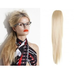 Clip in claw ponytail 24 inch straight – platinum blonde