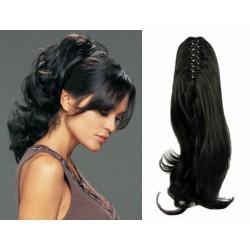 Clip in claw ponytail 24 inch wavy – black