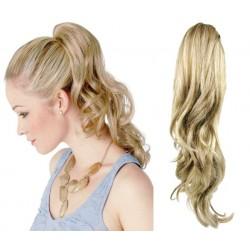 Clip in claw ponytail 24 inch wavy – platinum / light brown