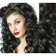 Clip in vlnité vlasy pravé lidské REMY 53cm - černá