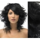 """Curly clip in hair extensions 20"""" (53cm) 100% human hair – REMY 100g – black"""