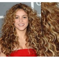 Clip in kudrnaté vlasy 100% lidské REMY 53cm - světlý melír