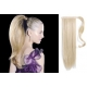 "Clip in ponytail wrap / braid hair extensions 24"" straight – platinum blonde"