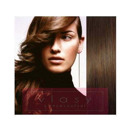 Clip in human hair 73cm – REMY 140g – medium brown