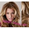Vlnitý clip in maxi set 53cm pravé lidské vlasy – REMY 200g - SVĚTLÝ MELÍR