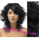 """Curly clip in maxi set 20"""" (53cm) human hair - REMY 200g – black"""