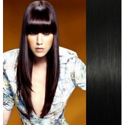 Clip in bang / fringe – REMY 100% human hair – black