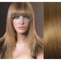 Clip in bang / fringe – REMY 100% human hair – light brown