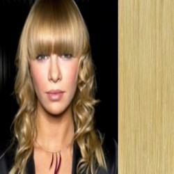 Clip in bang / fringe – REMY 100% human hair – natural blonde