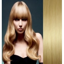 Clip in bang / fringe – REMY 100% human hair – light blonde