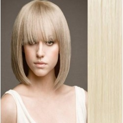 Clip in bang / fringe – REMY 100% human hair – platinum blonde