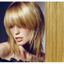 Clip in bang / fringe – REMY 100% human hair – light / natural blonde