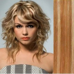 Clip in bang / fringe – REMY 100% human hair – mixed blonde
