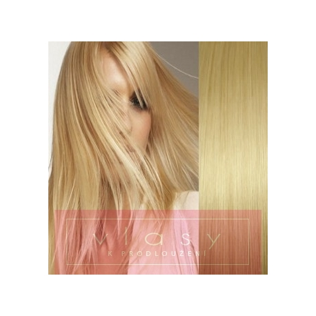 """Clip in hair extensions 20"""" (53cm) 100% human hair – REMY 100g – light blonde"""